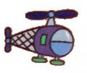 Craft Factory Iron or Sew On Fabric Motif Applique Helicopter