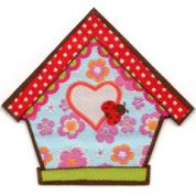 Craft Factory Iron or Sew On Fabric Motif Applique Bird House
