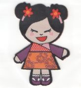 Craft Factory Iron or Sew On Fabric Motif Applique Girl 2