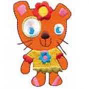 Craft Factory Iron or Sew On Fabric Motif Applique Cat