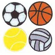 Craft Factory Iron or Sew On Fabric Motif Applique Sports Balls