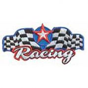 Craft Factory Iron or Sew On Fabric Motif Applique Racing Team
