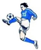 Craft Factory Iron or Sew On Fabric Motif Applique Football Player 23 Blue