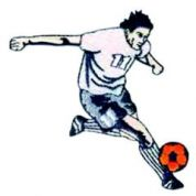 Craft Factory Iron or Sew On Fabric Motif Applique Football Player 11 White