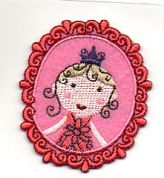 Craft Factory Iron or Sew On Fabric Motif Applique Girl 3