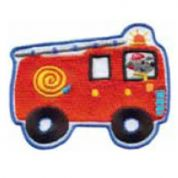 Craft Factory Iron or Sew On Fabric Motif Applique Fire Engine