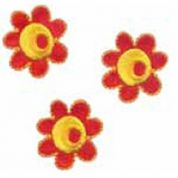 Craft Factory Iron or Sew On Fabric Motif Applique 3 Flowers