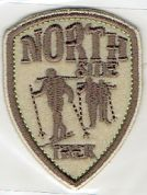 Craft Factory Iron or Sew On Fabric Motif Applique Northside Trek Shield