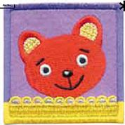 Craft Factory Iron or Sew On Fabric Motif Applique Orange Bear
