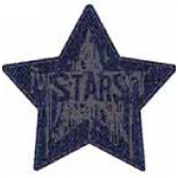 Craft Factory Iron or Sew On Fabric Motif Applique Dark Denim Star