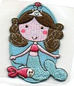 Craft Factory Iron or Sew On Fabric Motif Applique Mermaid 1