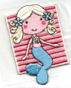 Craft Factory Iron or Sew On Fabric Motif Applique Mermaid 2