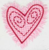 Craft Factory Iron or Sew On Fabric Motif Applique Pink Heart