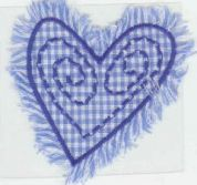 Craft Factory Iron or Sew On Fabric Motif Applique Blue Heart