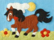 Orchidea Felt By Numbers Kit Pony