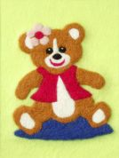 Orchidea Felt By Numbers Kit Teddy