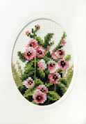 Orchidea Embroidery Cross Stitch Card Kit Hollyhocks