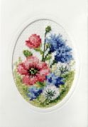 Orchidea Embroidery Cross Stitch Card Kit Poppies