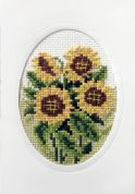 Orchidea Embroidery Cross Stitch Card Kit Sunflowers