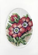 Stitch Garden Cross Stitch Card Kit Anemones