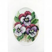 Stitch Garden Cross Stitch Card Kit Pansies