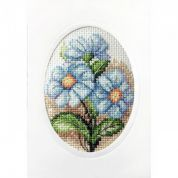 Stitch Garden Cross Stitch Card Kit Blue Flowers