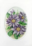 Stitch Garden Cross Stitch Card Kit Dahlias