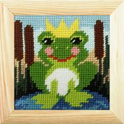 Orchidea Tapestry Embroidery Kit Frog