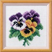 Orchidea Embroidery Cross Stitch Kit Pansy