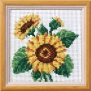 Orchidea Embroidery Cross Stitch Kit Sunflower