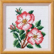 Orchidea Embroidery Cross Stitch Kit Dog Rose