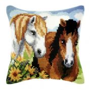 Orchidea Cross Stitch Cushion Kit Horses