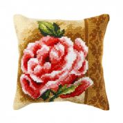 Orchidea Cross Stitch Cushion Kit Rose