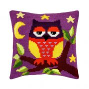 Orchidea Cross Stitch Cushion Kit Owl