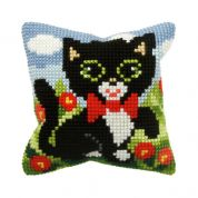 Orchidea Cross Stitch Cushion Kit Kitten