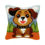 Orchidea Cross Stitch Cushion Kit Dog