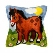 Orchidea Cross Stitch Cushion Kit Horse