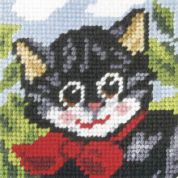 Orchidea Tapestry Embroidery Kit Pussy Cat