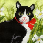 Orchidea Tapestry Embroidery Kit Black & White Cat