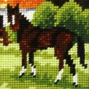 Orchidea Tapestry Embroidery Kit Brown Horse