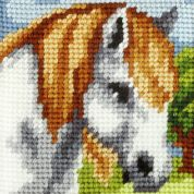 Orchidea Tapestry Embroidery Kit White Horse