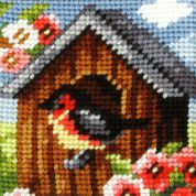 Orchidea Tapestry Embroidery Kit Bird House