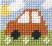 Orchidea Tapestry Embroidery Kit Mini Car