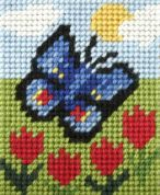 Orchidea Tapestry Embroidery Kit Butterfly and Tulips
