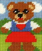 Orchidea Tapestry Embroidery Kit Girl Bear
