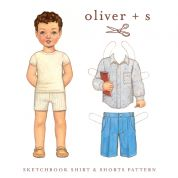 Oliver + S Boys Sewing Pattern Sketchbook Shirt & Shorts