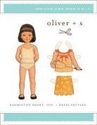 Oliver + S Girls Easy Sewing Pattern Badminton Skort, Top & Dress
