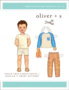 Oliver + S Boys Sewing Pattern Field Trip Cargo Pants & Raglan T Shirt