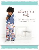 Oliver + S Boys Sewing Pattern Art Museum Vest & Trousers