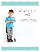 Oliver + S Boys Sewing Pattern Parachute Polo & Sweat Pants